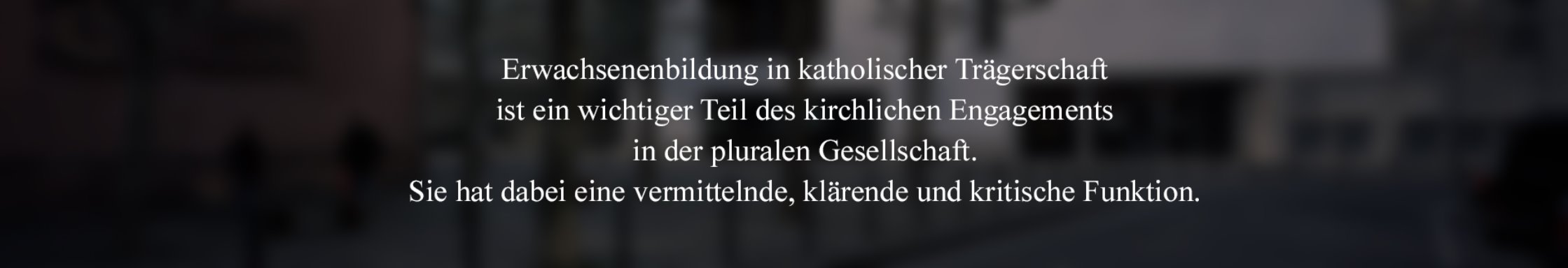 Katholische Erwachsenenbildung in Hessen Über uns